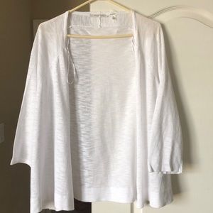 Cotton-blend open cardigan
